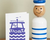 Happy Anniversary card // You Float My Boat // Love