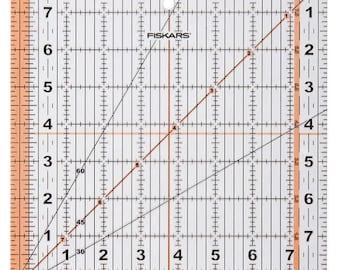 Fiskars Square Ruler - 8.5 Inch, Highlighted Seam Allowance - 187200-1001