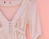 Dottie Day Vintage Dress ~CLEARANCE ~ //Retro Cute Sheer Small Womens White Dress