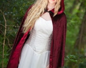 Red Velvet Hooded Cloak