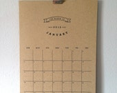 Wall Calendar, Large – Modern Ribbon