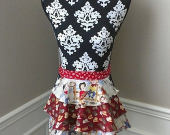 Girls Cowboy Skirt Apron
