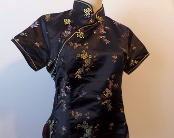Vintage Chinese Embroidered Blouse Tradional