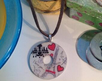 Washer Necklace/Pendant: J'aime Paris!