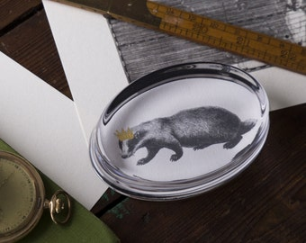 Badger Hand Gilded Paperweight