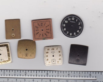 Watch dial faces for steampunk, industrial, assemblage and altered art pieces.   E 277