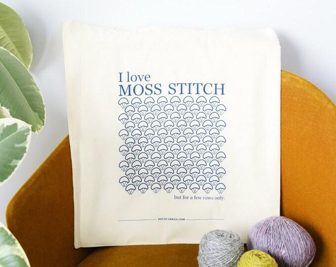 """Moss Stitch Tote Bag -  ( sac sérigraphié """"moss stitch"""" )"""