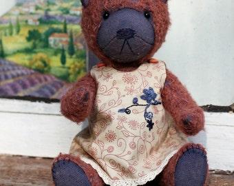 Teddy Bear - Manyasha (artist handmade dressed teddy bear girl OOAK)