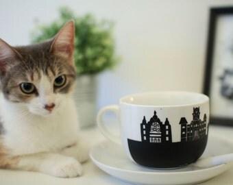 jumbo chalk mug cup bowl Sherbrooke Granada theatre architecture customize  write on it chalk coffee tea