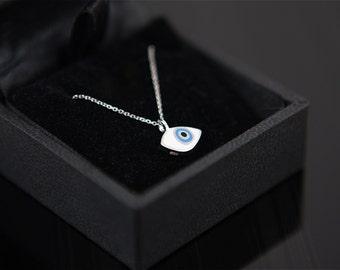 Baby Miró Eye Enameled 14K Necklace/ Gold Evileye