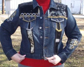 Midnight Magic Decorated Denim Jacket
