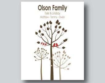 Modern family tree print family tree by mdesigncompany on etsy for Modern family printer