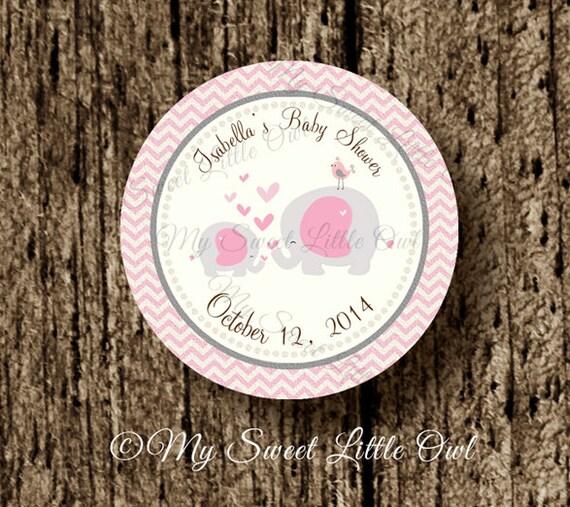 Pink Elephant cupcake topper - elephant baby shower ...