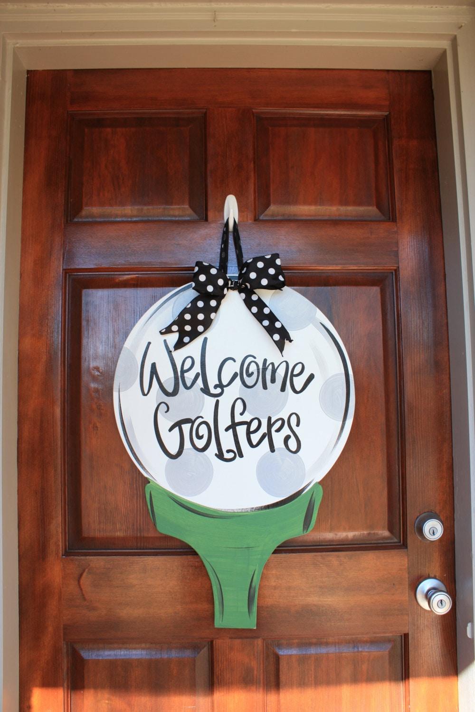Golf Ball Door Hanger Golf Wreath Golfer Masters Decor