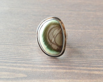 Tri-Color Imperial Jasper Ring // Jasper Jewelry // Sterling Silver // Village Silversmith