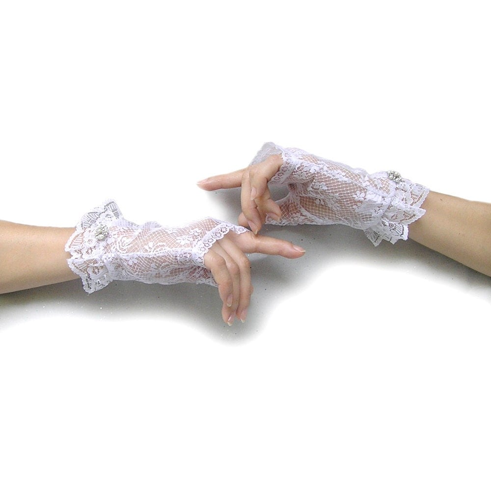 fingerless gloves white lace gloves lace wedding by