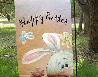 Bunny garden flag Etsy