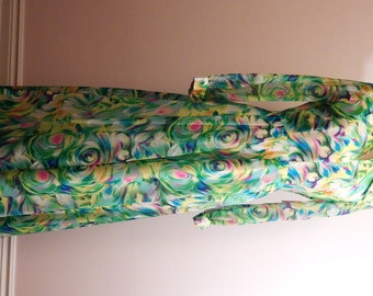I Dream of Chiffon - Long flowing vintage chiffan dress in greens and blues