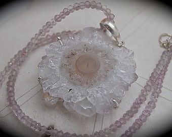 Amethyst Stalactite Pendant and Amethyst Necklace