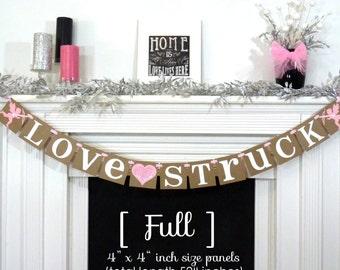 Valentine's Decoration Banner / Love Struck / Valentine Banner / Valentine's Decorations / My Love Sign / Be Mine Garland / Cupids Love Sign
