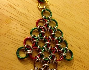 Christmas Tree Chainmaille Necklace