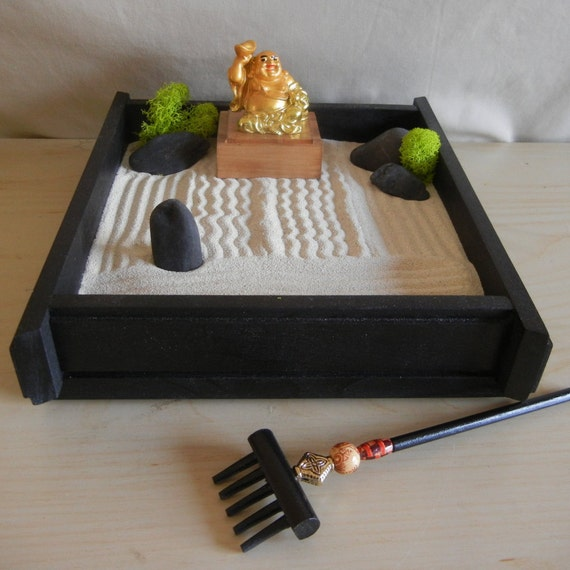 S 03gb Small Desk Or Table Top Zen Garden By Critterswoodworks