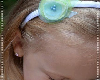 50% OFF! SALE ! CLEARANCE !!! Headband from an organza, Flower organza headband, Flower Girl headband, Girls hair accessories
