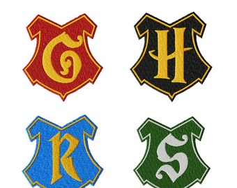 Potter Pack: PES & DST Files for 4 Harry Potter Crests - Embroidery Machine Design File
