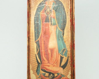 Mary the Blessed Virgin Painted on Wood