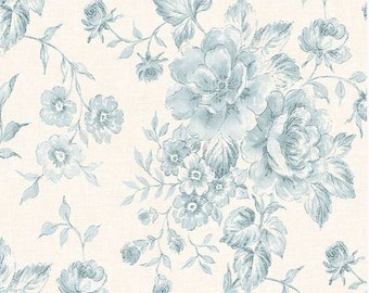 Wallpaper Powdered Pink Vintage Inspired Floral Toile