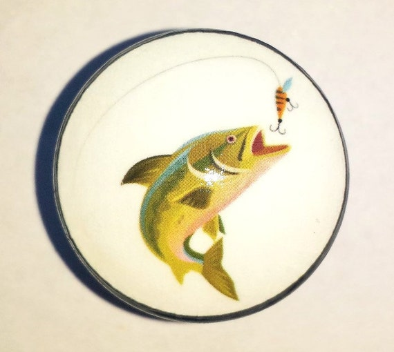 Bass fishing drawer pull knob fish sports by for Fish cabinet knobs
