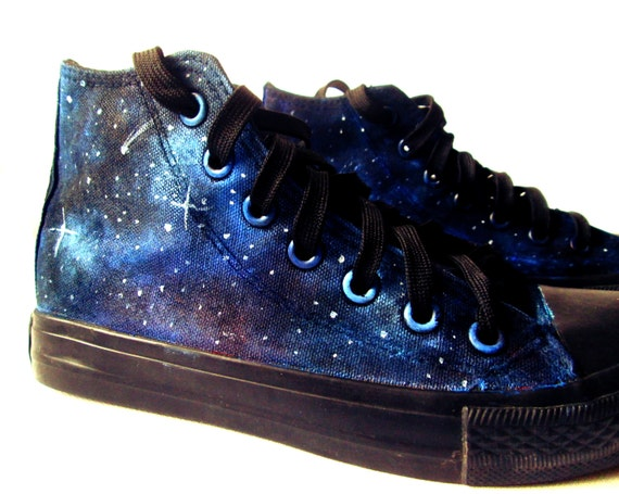 Custom handpainted galaxy sneakerspersonalized shoes by ...
