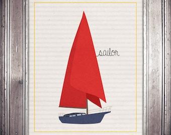 Sailor 8x10 Print