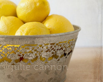 Kitchen Art -  Lemon Photography - Fine Art for your Home - French Provincial Styling - Food Photography