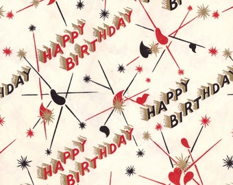 Vintage Wrapping Paper - Happy Birthday
