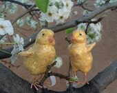 Bethany Lowe Figurine Vintage Folk Art Easter Chicks by Bethany Lowe Designs