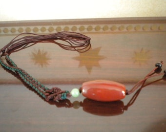 Carnelian, New Jade, Hawkseye Bead Necklace - Adjustable Z1-139, Z1-274