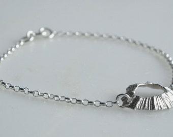 Silver Limpet Shell Bracelet