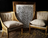 SALE! Pair of Tufted Back Gold Cane Wing Chairs