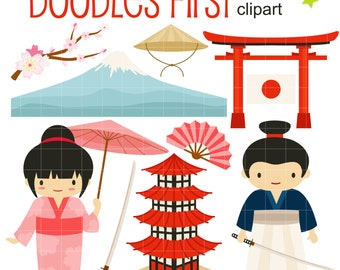 Turning Japanese Digital Clip Art for Scrapbooking Card Making Cupcake Toppers Paper Crafts