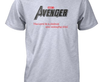 AproJes God Original Avenger Hero Comics Christian Tshirt