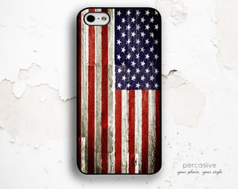 iPhone 6 Case US Flag - American Flag iPhone 5s Case, iPhone 4 Case, iPhone 4s Case, iPhone 5c Case Stars and Stripes :0805