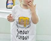 Sunday Funday Tee Shirt - Baby Tee Shirt - Baby T Shirt - Toddler T Shirt - Toddler Tee - Crewneck Shirt - First Day of School Tee