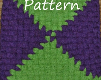 Pattern Instructions for Triangles and Butterfly Potholders