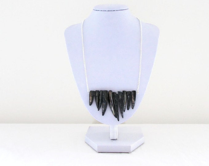 CLEARANCE Shell fringe necklace, handmade in the UK