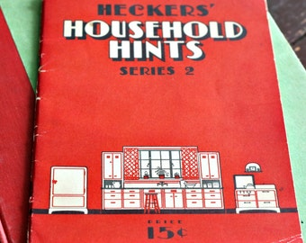 Hecker's Household Hints Series 2 - 1925 Vintage Book