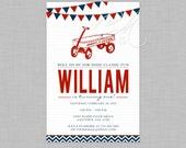 Radio Flyer/Red Wagon Inspired Birthday Invite