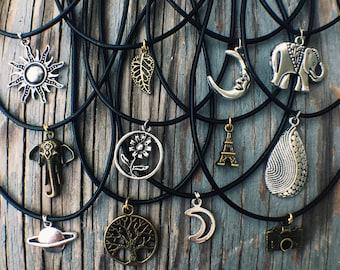 Charm Choker Necklaces - Bohemian Tumblr Grunge Hippie Jewelry