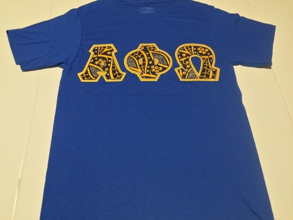 Custom greek letter shirt alpha phi omega by craftmesomeofthat for Where to buy greek letter shirts
