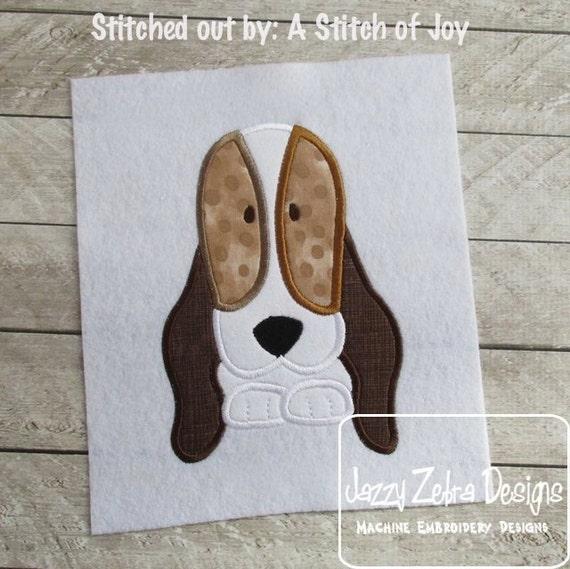 Doggy 58 Applique embroidery Design - dog Applique Design - puppy Applique Design - basset hound Applique Design